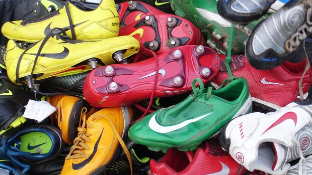 Football boot recycling
